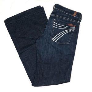 7 For All Mankind Dojo Wide Leg Jeans  J86